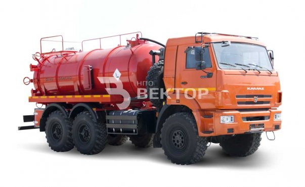 Vacuum tankers АКN-10OD KAMAZ-43118 (double pumping PNR 122