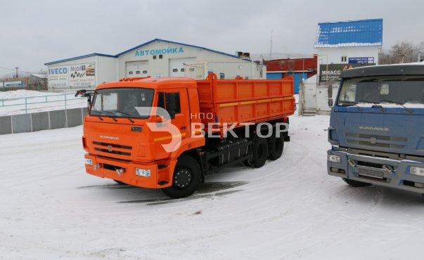 КАМАЗ-45143 с прицепом НЕФАЗ-8560 (зерновоз)