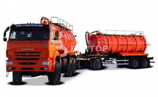 Вакуумный автопоезд МВ-20+20 КАМАЗ-65222