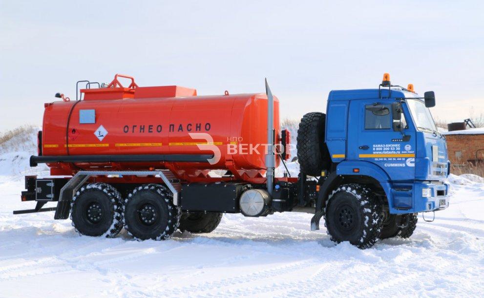 АЦН-15 КАМАЗ-43118 (с задним отсеком подогрева слива)