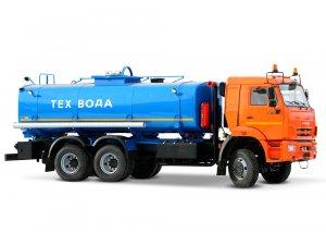 Автоцистерна нефтепромысловая АЦНС-16,5 КАМАЗ-65111 с задним отсеком подогрева от ДВС фото