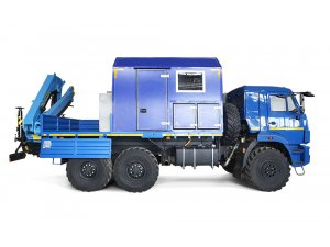 Water pipelines ground repair unit ANRV KAMAZ-43118 with motorcrane unit IM-95 фото