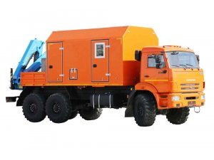 Агрегат ремонта и обслуживания качалок АРОК КАМАЗ-43118 с КМУ ИМ-95 фото