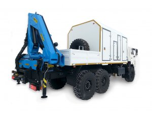 Repair and maintenance unit for beam pumping units AOP on KAMAZ-43118 chassis with motorcrane IM-150 фото