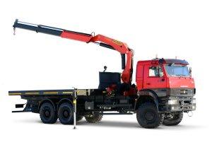 Бортовой автомобиль КАМАЗ-6522 с КМУ PK23500  фото