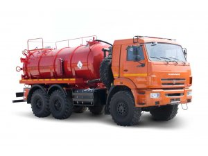 Vacuum tankers АКN-10OD KAMAZ-43118 (double pumping PNR.122 & КО510) фото
