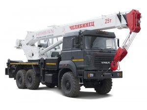 Автокран КС-45721 Челябинец (25 тонн) на шасси Урал-4320М фото