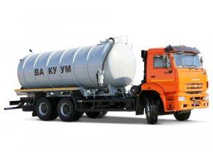 Вакуумная машина МВ-18 КАМАЗ-6520 (сдвоенный насос) фото