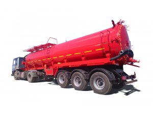 Vacuum semitrailer tanker PPCV 30OD фото