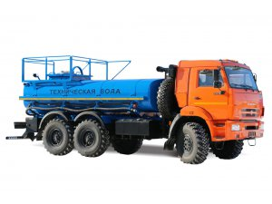 Автоцистерна нефтепромысловая АЦН-10 КАМАЗ-43118 для работы с трехплунжерным насосом СИН.35 фото
