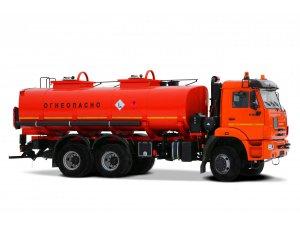 Автоцистерна нефтепромысловая АЦН-12 КАМАЗ-65111 двухнасосная (Термоизолированная) фото