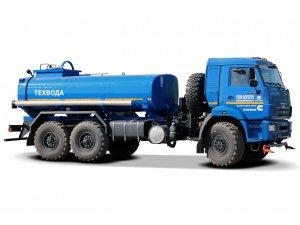 Автоцистерна для перевозки техводы АЦВ-10 КАМАЗ-43118 с поливомойкой фото