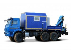 Агрегат наземного ремонта водоводов АНРВ КАМАЗ-43118М с КМУ ИМ-95 модель 2018 г. фото