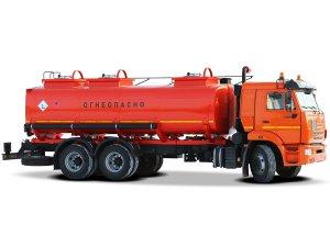 Автоцистерна для светлых ГСМ (бензовоз) АЦ-16 на шасси КАМАЗ-65115 фото