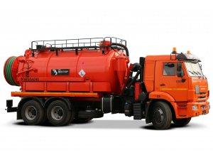 Илососная машина АКНС-14 КАМАЗ-65115 фото