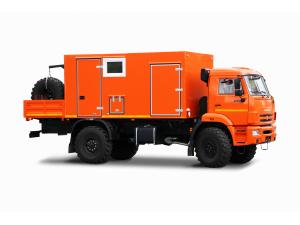 Передвижная ремонтная мастерская ПАРМ на шасси КАМАЗ-43502 (с открытой грузовой площадкой) фото